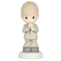 Precious Moments May God 's Blessings Be With You On Your First Holy Communion Figurine , Boy by...