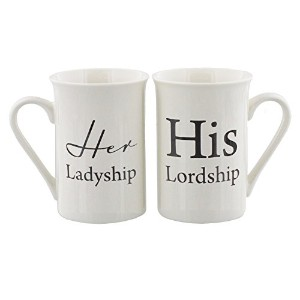 OaktreeギフトHis Lordship Her Ladyship 2 Piece Mugギフトセット