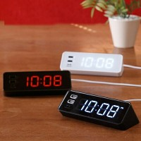 LED クロック with USB(LED CLOCK with USB)BCR001-WH/-BR/-BK 全3色(ホワイト/ブラウン/ブラック)