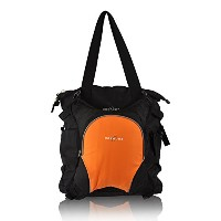 Obersee Innsbruck Diaper Bag Tote with Detachable Cooler, Black/Orange by Obersee