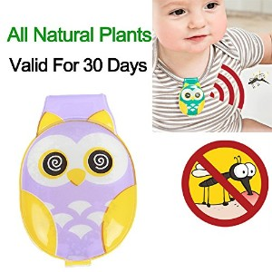 Baby Mosquito Repellent Clip, All Natural Plants Insect Protection for Babe Cribs, Infant Strollers...