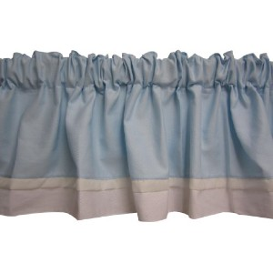 Baby Doll Bedding Classic Bows Valance, Blue by BabyDoll Bedding