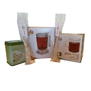 Adagio Teas IngenuiTEAティーポット、ガラスマグ、Loose Leaf Tea Tin and Swizzle Stick , Tea for One Set