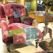 ANNE CHAIR(アン チェア) TIMOTHY OULTON BY HALO(ティモシー オルソン バイ ハロ) VELVET PATCHWORK BOHEME(ベルベット パッチワ...