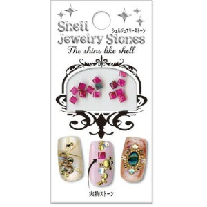 50%OFF【SALE】Shell Jewelry StonesシェルジュエリーストーンKR-13 スクエア ピンク