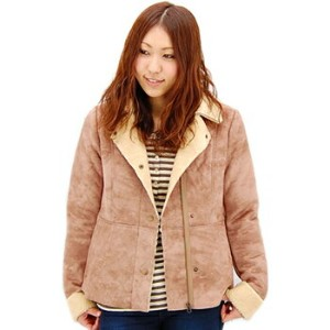 【FW】american outfitters アメリカンアウトフィッターズ レディース SHEARLING PERFECTO[212-3840-84]