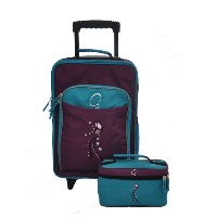 Obersee Kids Luggage and Toiletry Bag Set, Butterfly by Obersee
