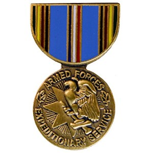 Armed Forces Expeditionary Medal帽子またはラペルピン