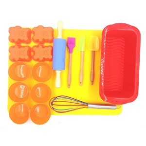 morningrising 17ピースIntroduction toシリコンBaking Set for Kids