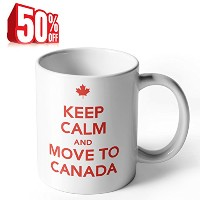 Ahaマグ–Keep Calm and Move to Canada–11オンス磁器マグコーヒー、紅茶または、ホワイト–by Sweese