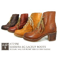 FRYE SABRINA 6G LACEUP BOOTS 77590BURNT RED・SUNRISE・WALNUT・SADDLE フライ サブリナ6Gレースアップ 77590バーントレッド...
