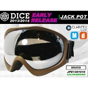 DICE ダイス ゴーグル EARLY モデル JACKPOT カラー BROWN Silver Mirror-drop Anti-Fog Double Lens/Clear base 【ダイス...