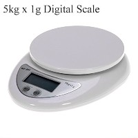 Portable 5kg x 1g Digital Scale LCD Electronic Scales Steelyard Kitchen Scales Postal Food Balance...