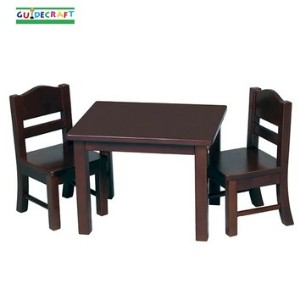 Doll Table and Chair Set - Espresso