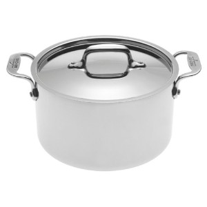 All-Clad 5304 Stainless Steel Casserole with Lid Cookware, Silver by All-Clad