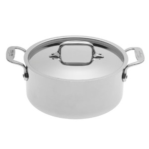 All-Clad 5303 Stainless Steel Casserole with Lid Cookware, 3-Quart, Silver by All-Clad