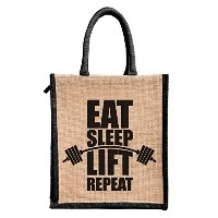 Jute lunch bag Size, Height:11in, Lenght: 9in, Width:6in)