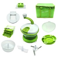 CHEF CHIFFON Complete Kitchen Multi-Function Manual Food Processor - Salad Spinner, Mixer, Beater,...