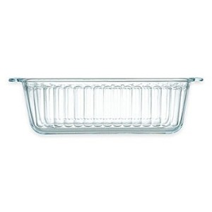 Pyrex ®ガラス1.5QT。Loaf Pan with Red Lid非多孔性ガラス
