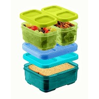 Rubbermaid LunchBlox Kid's Tall Lunch Box Kit, Green/Blue by Rubbermaid