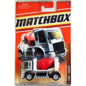 【2011 Matchbox MBX MIXER #46 Construction 9/11 grey body white carriage red barrel mixing drum (Red...