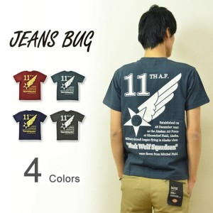『11th AIR FORCE』 JEANSBUG ORIGINAL PRINT T-SHIRT オリジナルユーエスエアフォース 第11空軍 ミリタリープリント 半袖Tシャツ アメリカ空軍 米軍...
