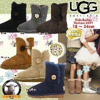 *UGG アグ 正規品 キッズ ベイリーボタン Bailey Button ムートンブーツ 5991 大人もはける♪18cm~24cm □