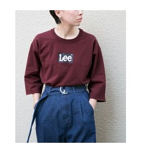 DOORS Lee×DOORS-natural- LEE LOGO T-SHIRTS【アーバンリサーチ/URBAN RESEARCH レディス その他(トップス) BORDEAUX ルミネ...