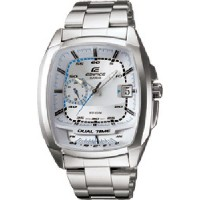 カシオ Casio #EF321D-7AV Men's メンズ 男性用 Edifice Stainless Steel Dual Time Zone Sports Watch 時計 [並行輸入品]