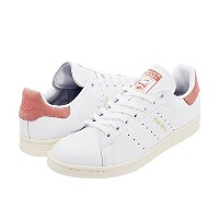 [ADIDAS] UNISEX ORIGINALS STAN SMITH WHITE/WHITE/PINK CP9702 / アディダス スタンスミス スニーカー (22.5)