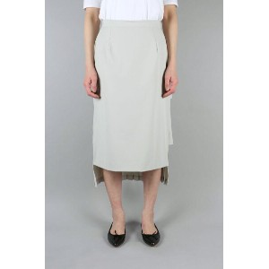DOUBLE FACE PLEATS SKIRT -GRAY-(12109-3031) CLANE(クラネ)