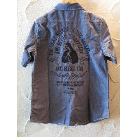 GROOVER GRAND/BACK EMBROIDERY CHAMBLAY SHIRTS BLUE
