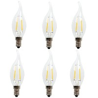 b-1001 – 212 – 211 – 4-6-buttonwood- LEDライト電球 C35-2w tail(Pack of 6)
