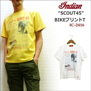 "INDIAN(インディアン) バイクプリントT ""SCOUT45"""