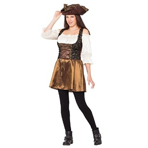 Pirate Gold Rose. (Adult Costumes) Female UK Size 10 14 - Brown