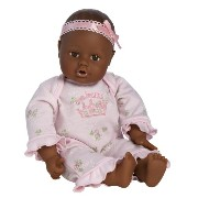 アドラ ベビードール 赤ちゃん 人形 Adora Playtime Baby Doll 13-Inch Dark Skintone Brown Eyes Pink Romper