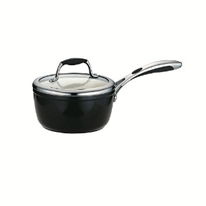 Tramontina 80110/024DS Gourmet Ceramica 01 Deluxe Covered Sauce Pan, 1.5-Quart, Metallic Black by...