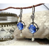Michel's Vintage Beads Earing ヴィンテージビーズピアス・ブルー