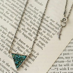 GARDEN OF EDEN C*G LIMITED Turquoise Triangle Necklace