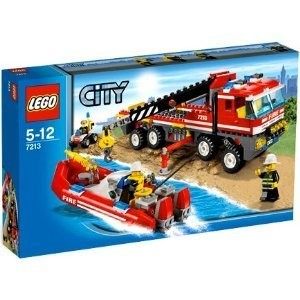 LEGO レゴ シティセット City Set 7213 OffRoad Fire Truck & Fireboat