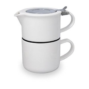 FORLIFE Tea for One with Infuser 14 ounces, White by FORLIFE
