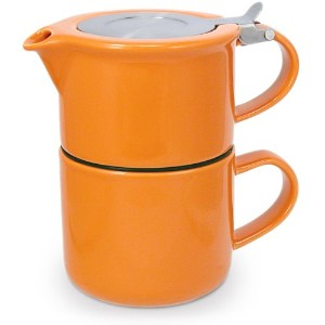 FORLIFE Tea for One with Infuser 14 ounces, Carrot by FORLIFE