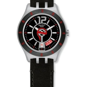 Swatch Irony スウォッチ アイロニー メンズ 腕時計 In a Vibrant Mode Black Dial Men's watch #YTS402