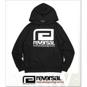REVERSAL BIG MARK SWEAT PARKA (HOODED)(rvbs008-BK)