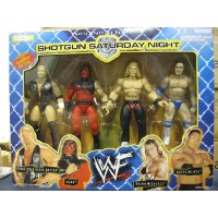 WWF プロレス フィギュア Shotgun Saturday Night 1998 4体セット Stone Cold/Kane/Shawn Michaels/Rocky Maivia by...