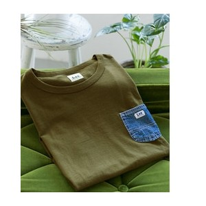 DOORS Lee×DOORS-natural- DENIM POCKET T-SHIRTS【アーバンリサーチ/URBAN RESEARCH メンズ Tシャツ・カットソー 121 OLV ルミネ...