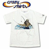 Crazy Shirts(クレイジーシャツ) S/S Tee @Kliban Cats[1028840] Kliban Fly Fishing Cat クリバンキャット 半袖 Tシャツ HAWAII...