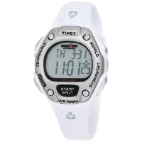 Timex Women's タイメックス レディース 腕時計 アイアンマン T5K515 Ironman Traditional 30-Lap White Resin Strap Watch