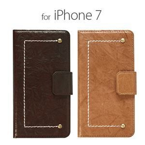その他 stil iPhone7 VINTAGE FOLIO キャメル ds-1823759