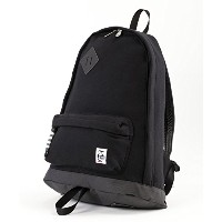 CHUMS チャムス リュック Classic Day Pack Swaat Nylon リュックサック (ワンサイズ, Black/Charcoal)
